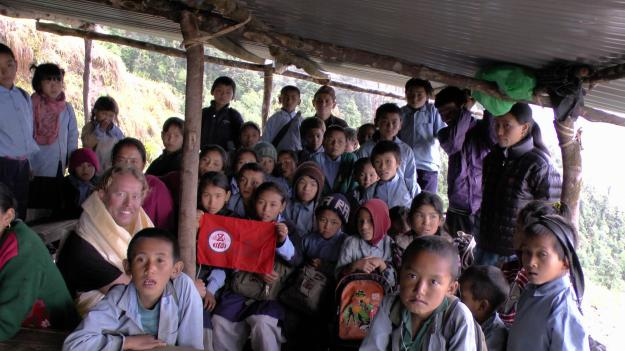 Chhitre visit pic with kids
